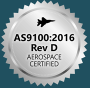 AS9100 ISO 9001 Aerospace certified